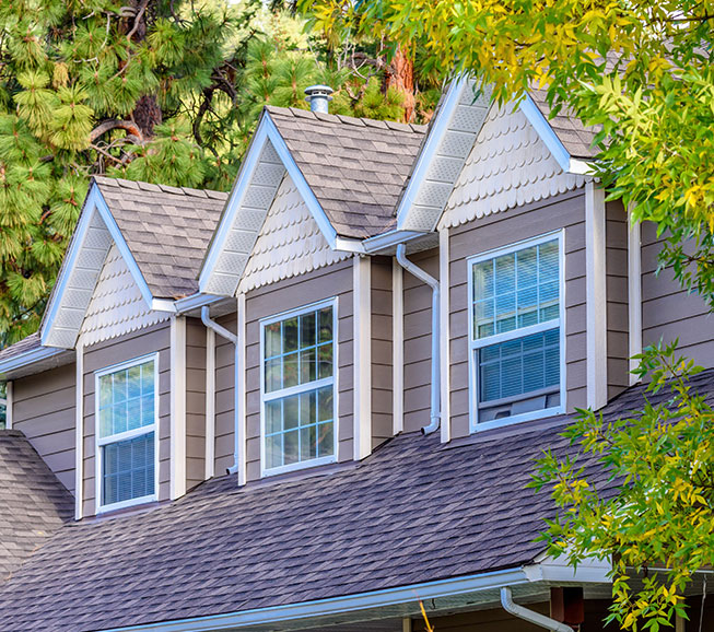 asphalt shingle roof on northern virginia home
